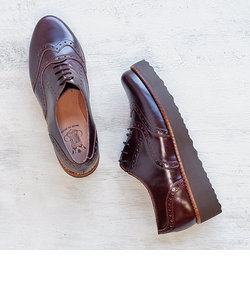 【BONTRE/ボントレ】厚底ウィングチップシューズ[Esmeralda/エスメラルダ 靴]