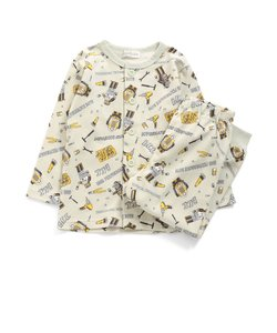 男児前開きロボット総柄パジャマ