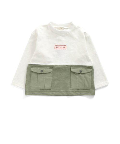 バイカラーポケットTシャツ