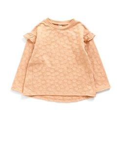 お花ジャガード長袖Tシャツ
