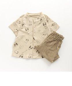 ユニ総柄前開きパジャマ(ゆるアニマル)