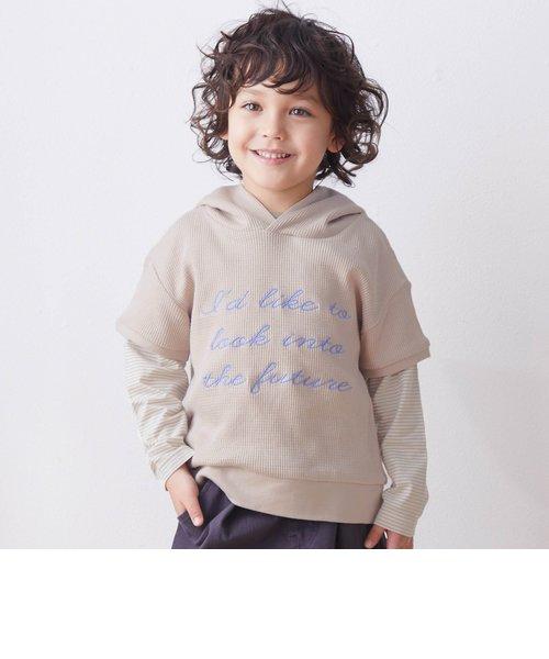 ワッフルパーカー2PセットTシャツ