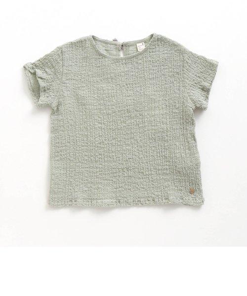 シャーリングボイル布帛Tシャツ