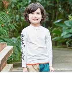 長袖かぶり男児ラッシュガード