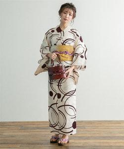 [浴衣+帯セット]綿麻浴衣