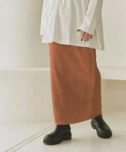 プリーツベロアタイトスカート