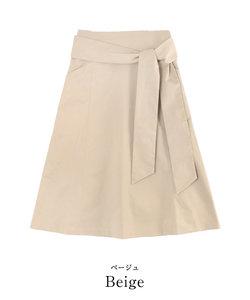 ウエストリボン台形スカート