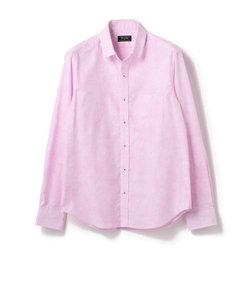 ストレッチ フラワー柄 ジャガードシャツ
