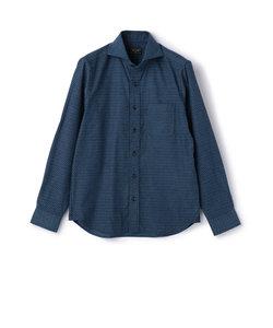 【週刊文春10月19日号】草刈正雄さん着用 ストレッチ 小紋柄 ジャガードシャツ