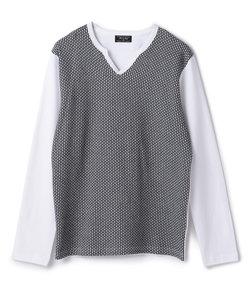 キーネック長袖Tシャツ/JAPAN MADE