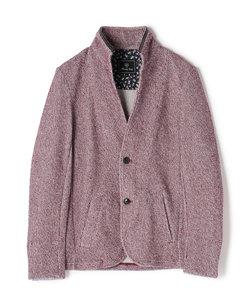 スタンドカラー カットジャケット/メランジラッセル