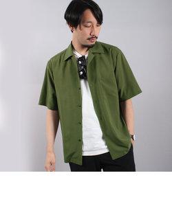 ブロードクロスオープンカラーシャツ