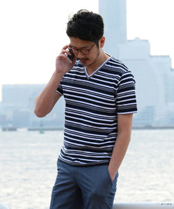 ロープボーダー 半袖Tシャツ