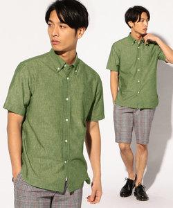 フレンチリネンボタンダウンシャツ