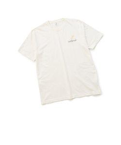刺繍ロゴTシャツ/コットン100%/Made in Japan