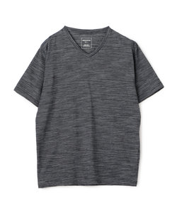 スラブミジンボーダーVネックTシャツ