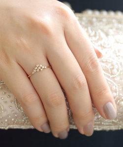 LA RUCHE・10粒ダイヤのリング