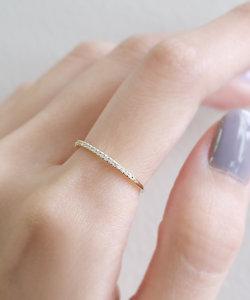 19粒ダイヤラインのリング