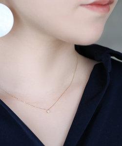 一粒ダイヤモンドのネックレス[0.1ct]