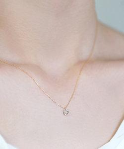 ヌーディーダイヤモンド・1粒ネックレス[0.3ct]