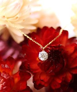 大粒ダイヤモンドのネックレス[0.3ct]