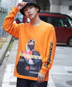 【Sequence】長袖ビッグフォトTシャツ