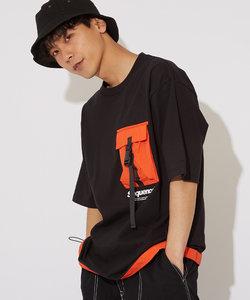 【Sequence】半袖バックルポケットTシャツ
