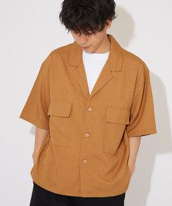 ポリトロ半袖テーラーシャツ