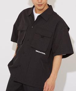 【Sequence】半袖メカニックワイドシャツ