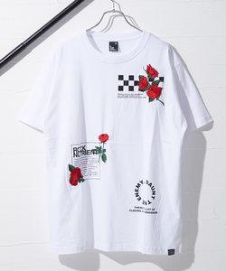 【B ONE SOUL】半袖フロントローズ刺繍Tシャツ