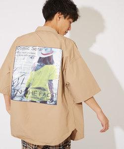 フォトタイプライター半袖BIGシャツ