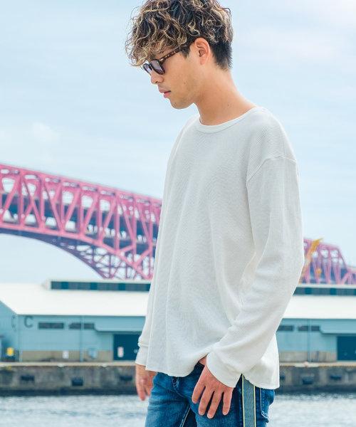 【FRUIT OF THE LOOM】長袖ワッフルTシャツ