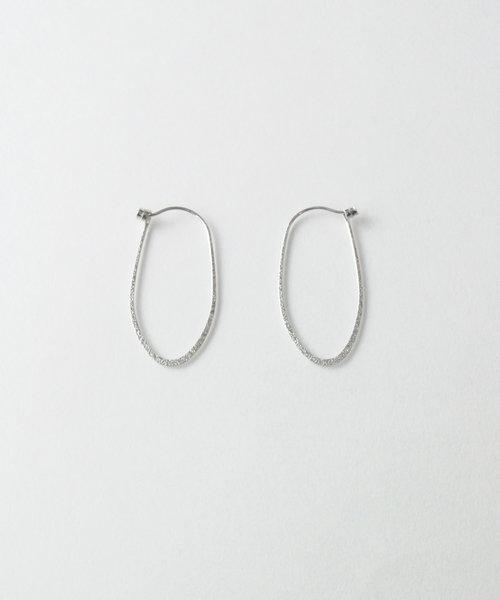 【anq.】K10 オーバルフープピアス
