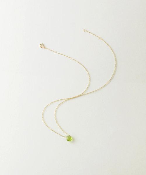 【anq.】K10・シャンパンクオーツマロンネックレス