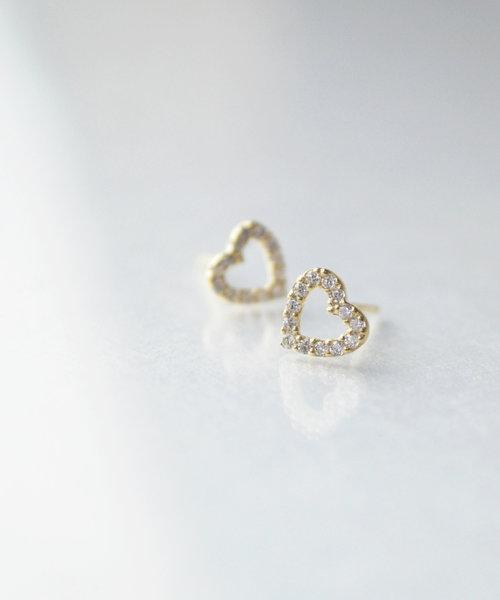 【anqanq.】K10 heart shine ピアス