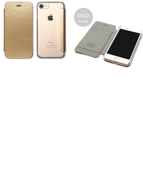 7adb084058 iPhone7 背面クリア手帳型ケース Diana ゴールド | SmaPla(スマプラ)の通販 - &mall