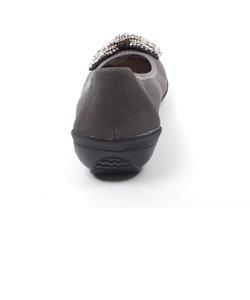 ビジューリボンソフト人工皮革バレエシューズ(Britney-1)