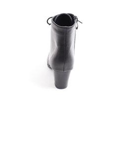 [暖か素材]スリムレースアップボアブーツ (5887-3)