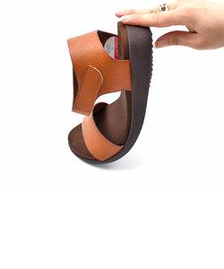 18612[やわらか素材]手染めフラットサンダル