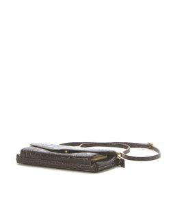 マルメロ marmelo / ワニ型押しお財布ショルダーバッグ