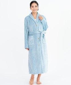 memory fleece  gown前開きロングガウン(ヘチマ襟)