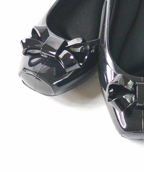【Bridget Birkin】立体リボンデザインレインパンプス