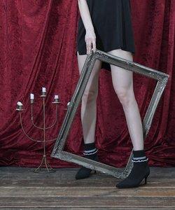 【Bridget Birkin】フリルニットガーリーショートブーツ