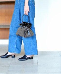 【Roberta Gandolfi】タッセル付きファー巾着バッグ