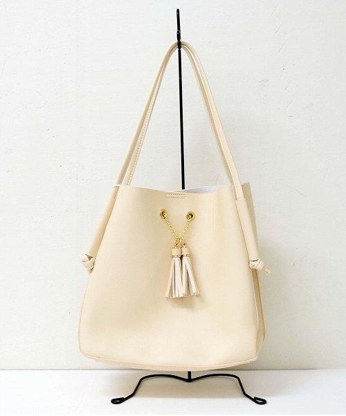 【SELECT BAG】タッセル付ハンドバッグ