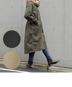 晴雨兼用ノーカラーモッズコート 軽量