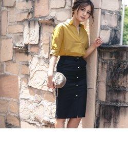 フロントパールタイトスカート