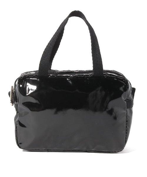 MICRO BAG/ブラックパテントシル
