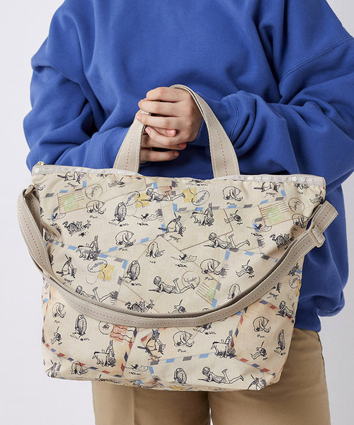 DELUXE EASY CARRY TOTE クラシックプー レターズ