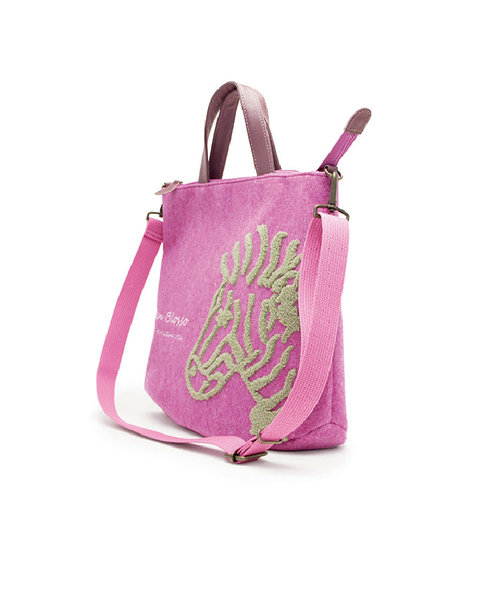 2wayバッグ「グレーザ」 フェルト<ピンク>